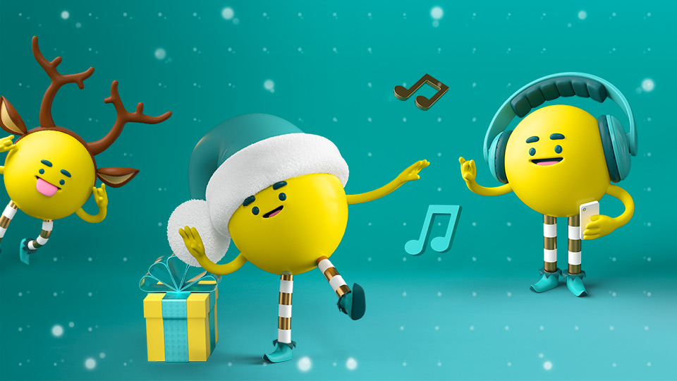 EE's little helpers dance around presents