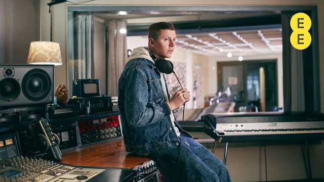 Professor Green in a studio